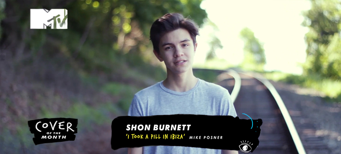 MTV Cover of the Month selects Shon Burnett's YouTube video cover!