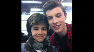 "Shawn Mendes with Shon Burnett on ""The Next Star 7"" in 2014"